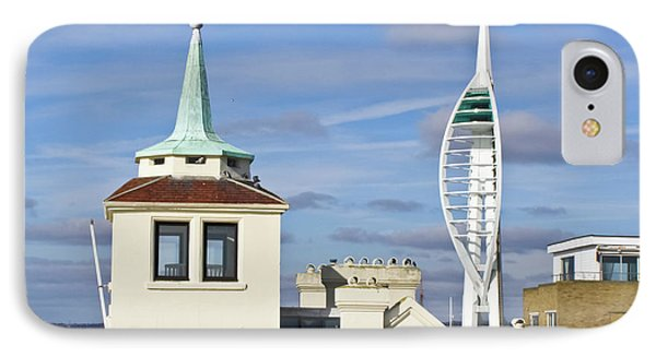 Old Portsmouth's Towers Phone Case by Terri Waters