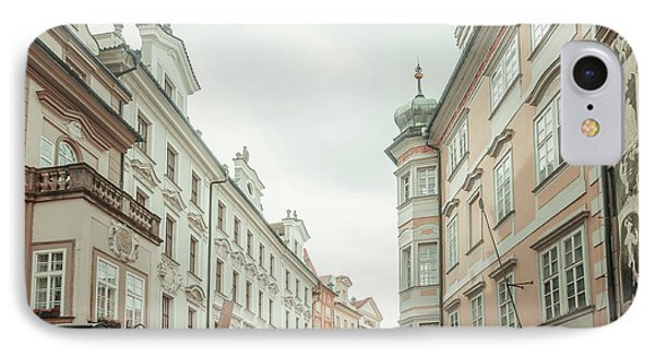 IPhone Case featuring the photograph Old Prague Buildings. Staromestska Square by Jenny Rainbow