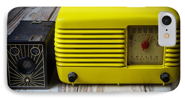 Old Radio And Camera IPhone Case by Garry Gay
