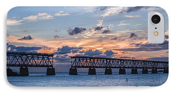Old Rail Bridge At Florida Keys IPhone Case by Elena Elisseeva