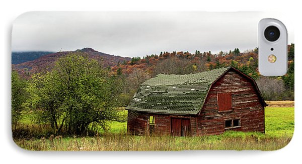 Old Red Adirondack Barn IPhone Case by Nancy De Flon