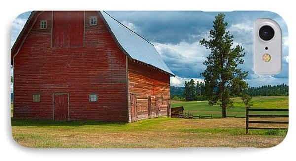Old Red Big Sky Barn  IPhone Case by Sandra Bronstein