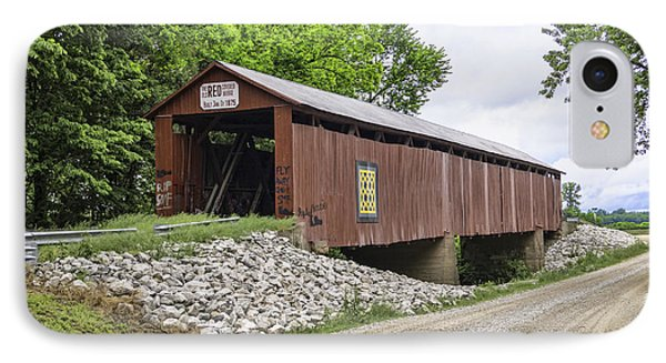 Old Red Covered Bridge IPhone Case