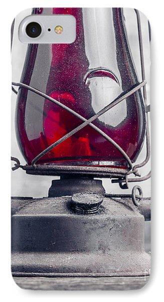 Old Red Hurricane Lantern Still Life IPhone Case