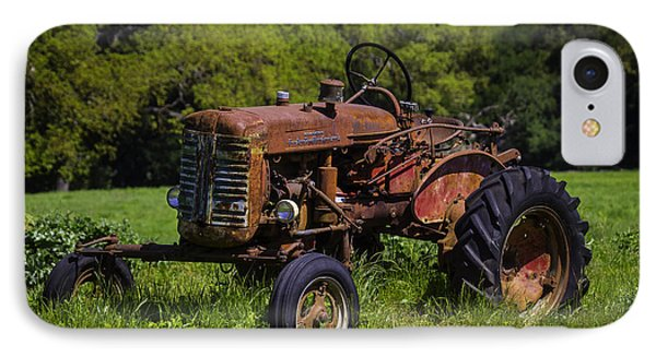 Old Red Tractor IPhone Case by Garry Gay