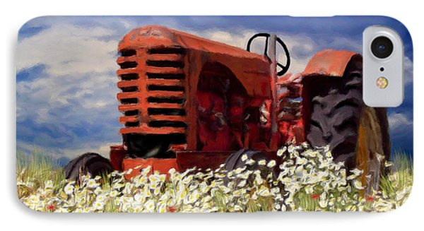 Old Red Tractor IPhone Case