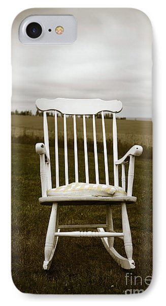 Old Rocking Chair In A Field Pei IPhone Case