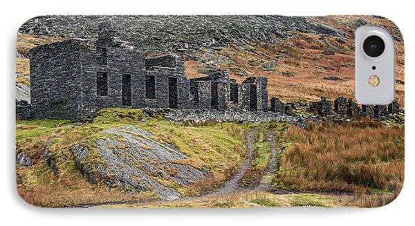 IPhone Case featuring the photograph Old Ruin At Cwmorthin by Adrian Evans