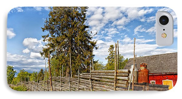 Old Rural Farm Set In A Beautiful Summer Nature IPhone Case by Christian Lagereek