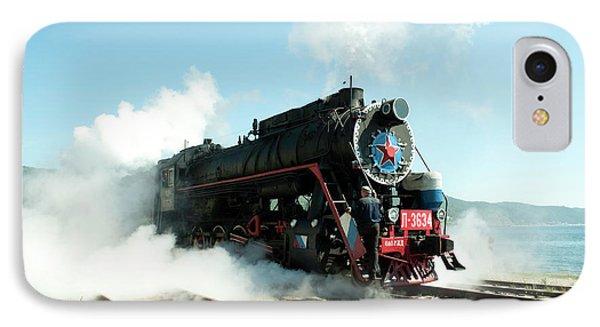 Old Russian Train On Bajkal IPhone Case by Tamara Sushko