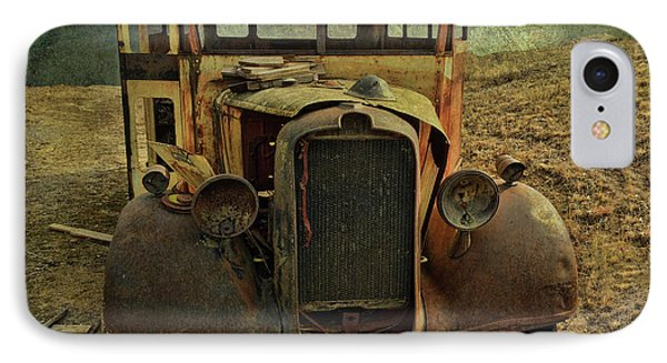 Old Rusted Wrecked Bus  IPhone Case by Liane Wright