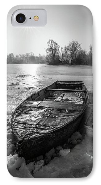 IPhone Case featuring the photograph Old Rusty Boat by Davorin Mance