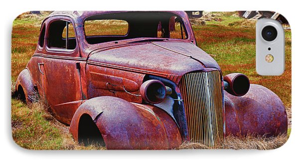 Old Rusty Car Bodie Ghost Town IPhone Case by Garry Gay