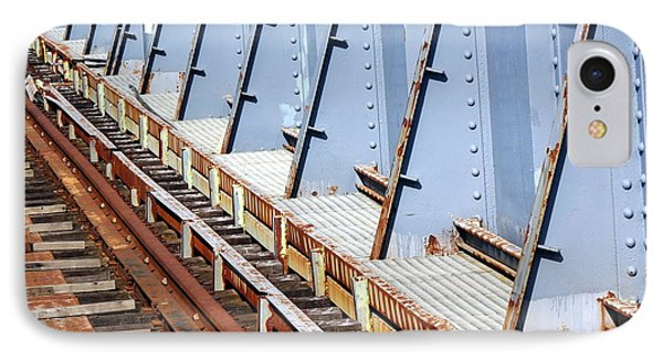 IPhone Case featuring the photograph Old Rusty Railway Bridge by Yali Shi