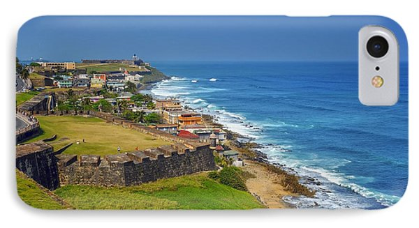 Old San Juan Coastline Phone Case by Stephen Anderson