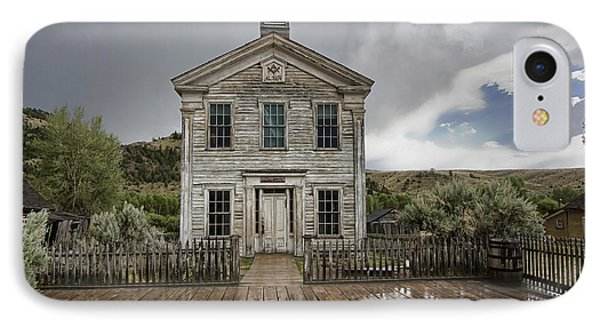 Old School House After Storm - Bannack Montana IPhone Case