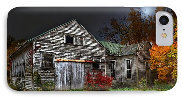 Old School House In Autumn IPhone Case by Julie Dant