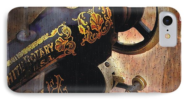 Old Sewing Machine IPhone Case by Bob Salo