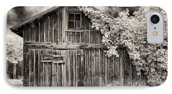 Old Shed In Sepia IPhone Case by Greg Nyquist