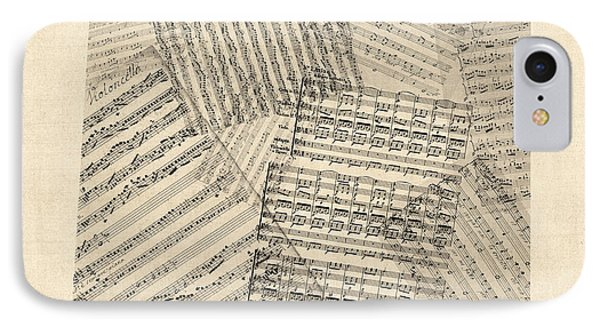 Old Sheet Music Map Of Colorado IPhone Case by Michael Tompsett