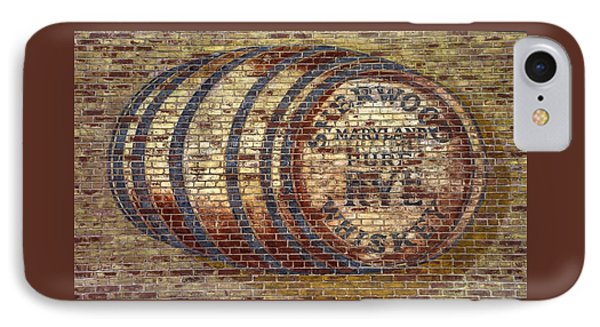 Old Sherwood Distillery Logo On Former Bonded Warehouse - Westminster Carroll County Maryland IPhone Case