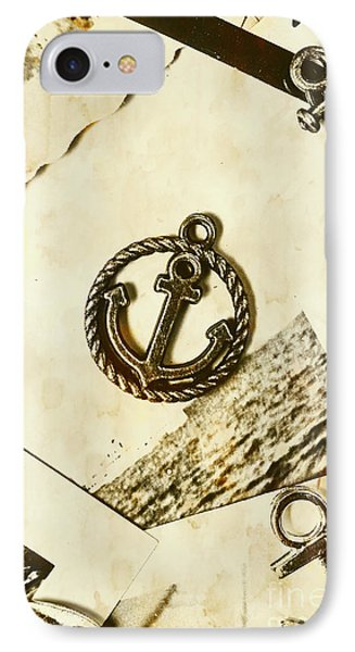 Old Shipping Emblem IPhone Case by Jorgo Photography - Wall Art Gallery