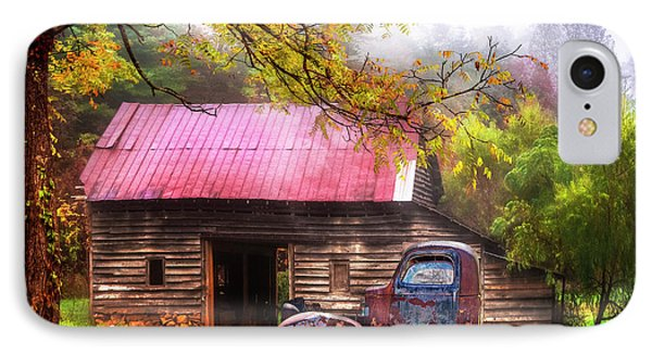 IPhone Case featuring the photograph Old Smoky Truck And Barn by Debra and Dave Vanderlaan