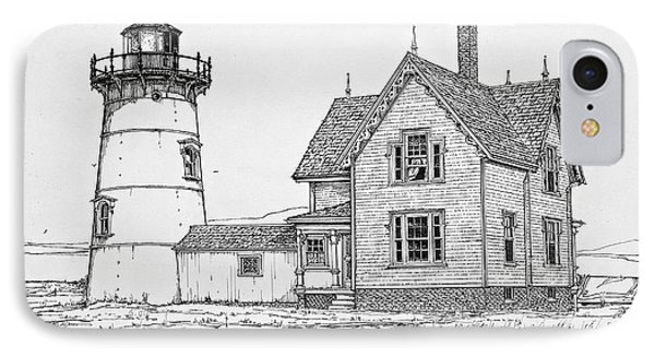 Old Stage Harbor Lighthouse Cape Cod IPhone Case by Ira Shander