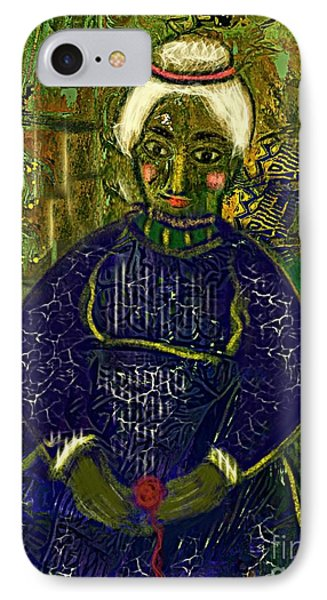 IPhone Case featuring the digital art Old Storyteller by Alexis Rotella