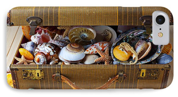 Old Suitcase Full Of Sea Shells Photograph by Garry Gay