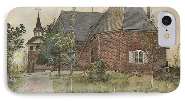 Old Sundborn Church. From A Home IPhone Case by Carl Larsson