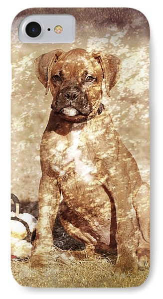 Old Time Boxer Portrait IPhone Case