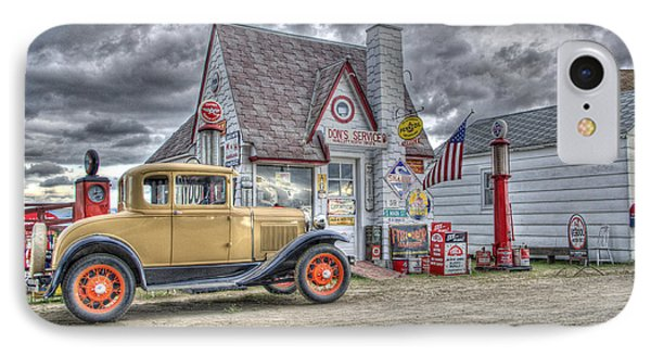 Old Time Gas Station IPhone Case by Shelly Gunderson
