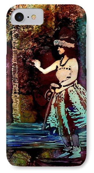 Old Time Hula Dancer IPhone Case by Marionette Taboniar