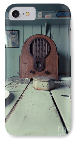 IPhone Case featuring the photograph Old Time Kitchen Table by Edward Fielding