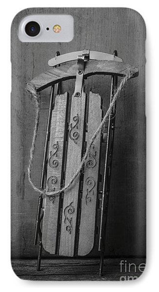 Old Toboggan Sled IPhone Case by Edward Fielding