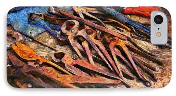 Old Tools - Da IPhone Case by Leonardo Digenio