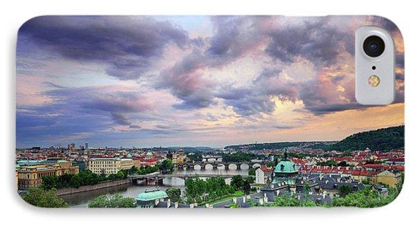 Old Town And Charles Bridge, Prague, Czech Republic IPhone Case