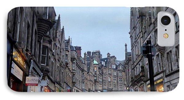 Old Town Edinburgh IPhone Case by Margaret Brooks