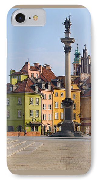 Old Town Square Zamkowy Plac In Warsaw IPhone Case by Anastasy Yarmolovich