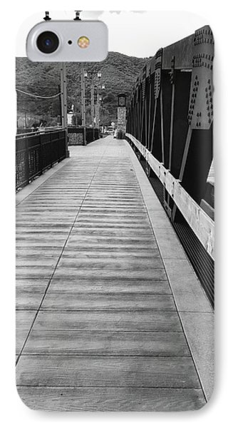 Old Town Temecula Bridge Bw IPhone Case by Russell Keating