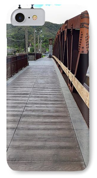 Old Town Temecula Bridge IPhone Case by Russell Keating
