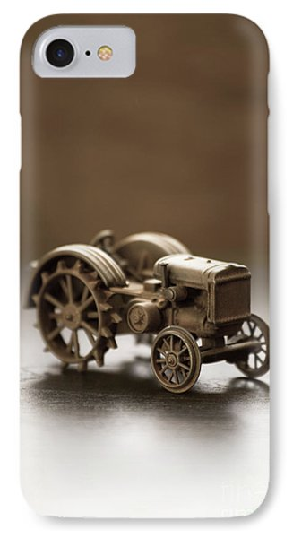 IPhone Case featuring the photograph Old Toy Tractor by Edward Fielding
