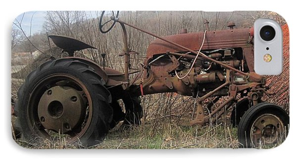Old Tractor-clarks Farm IPhone Case by Paul Meinerth