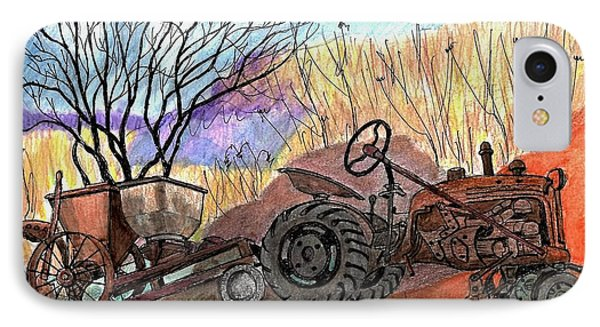 Old Tractor Danvers Ma IPhone Case by Paul Meinerth
