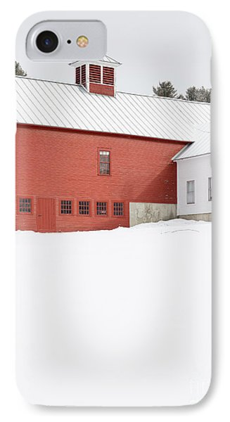 Old Traditional New England Farm In Winter IPhone Case by Edward Fielding