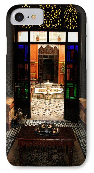 Old Traditional Riad In Fez IPhone Case by Ralph A  Ledergerber-Photography