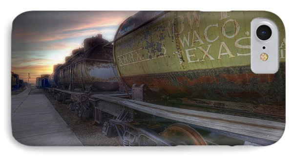 IPhone Case featuring the tapestry - textile Old Train - Galveston, Tx 2 by Kathy Adams Clark