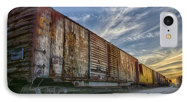 IPhone Case featuring the tapestry - textile Old Train - Galveston, Tx by Kathy Adams Clark