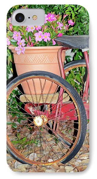 Old Tricycle IPhone Case by Susan Leggett